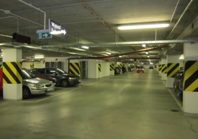 Badania defektoskopowe połączeń płyt stropowych wbudowanych w stropy wielopoziomowego garażu podziemnego w budynku biurowym w Warszawie, 2012