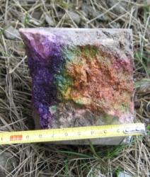 Pomiar głebokości karbonatyzacji i rozkładu pH w betonie - Test tęczowy (Rainbow Test)