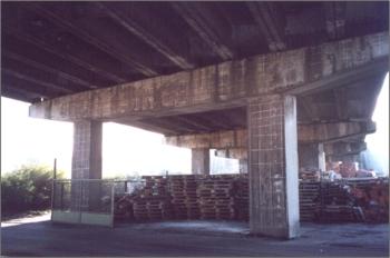 Wykrywanie obszarów aktywnej korozji zbrojenia w betonie - filar wiaduktu