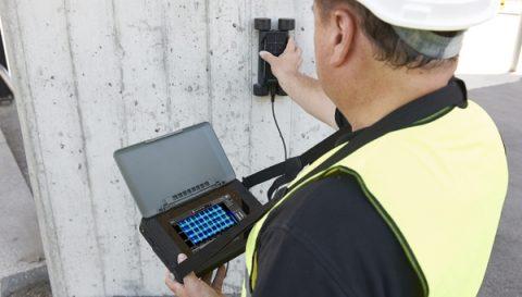 Detekcja zbrojenia przyrządem Proceq Profometer